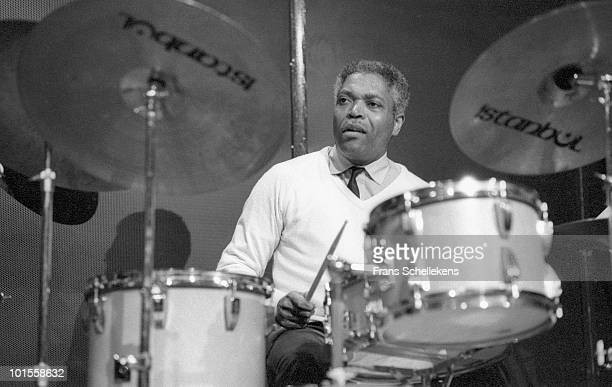 Drummer Billy Hart performs live on stage at Bimhuis in Amsterdam, Netherlands on June 06 1986