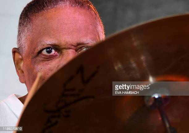 Drummer Billy Hart performs with his Quartet at the 65th edition of the Newport Jazz Festival in Newport Rhode Island August 2 2019