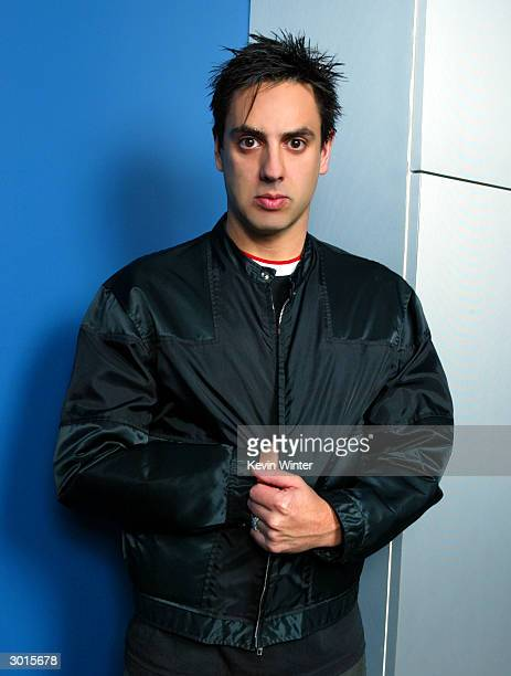 Drummer Bobby Hewitt of the rock band 'Orgy' during a photo session at NRG Studios on January 27 2004 in Los Angeles California