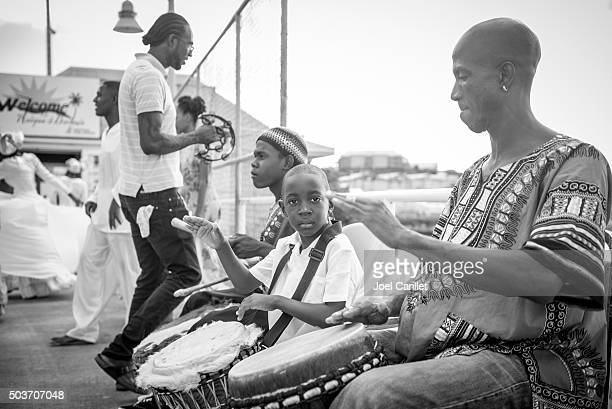 Drummer boy in St. John's, Antigua