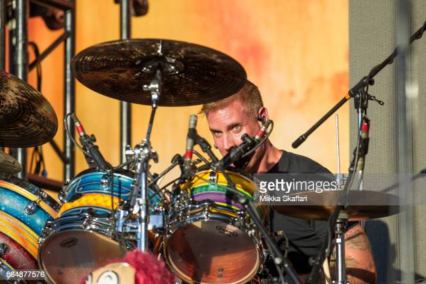 Drummer Brann Dailor of Mastodon performs at Monster Energy Aftershock Festival 2017 at Discovery Park on October 21 2017 in Sacramento California