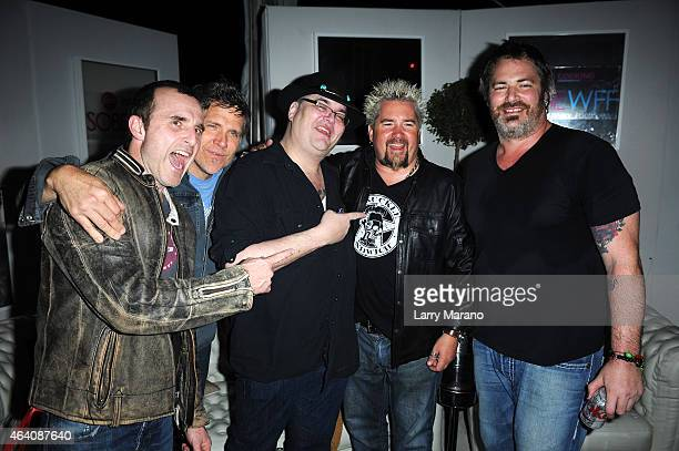 Drummer Brendan Hill Keyboardist Ben Wilson Singer/Musician John Popper of Blues Traveler Chef Guy Fieri and Guitarist Chan Kinchla attend the...