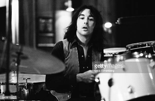 Drummer Brian Downing of Thin Lizzy at Ramport Studio Battersea during the recording of their album 'Johnny the Fox' London United Kingdom November...