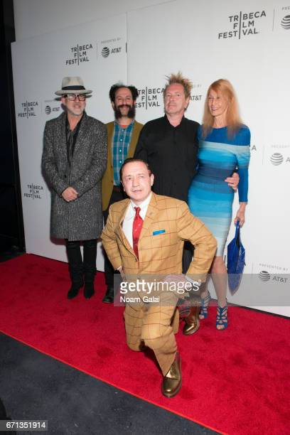 Drummer Bruce Smith Director Tabbert Fiiller John Lyon Nora Forster and Rambo Stevens attend The Public Image is Rotten Premiere during 2017 Tribeca...