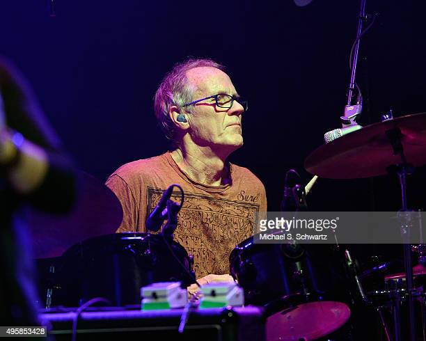 Drummer Burleigh Drummond of Ambrosia performs during his appearance at the weSpark Cancer Support Center Benefit Concert 'An Evening with Michael...