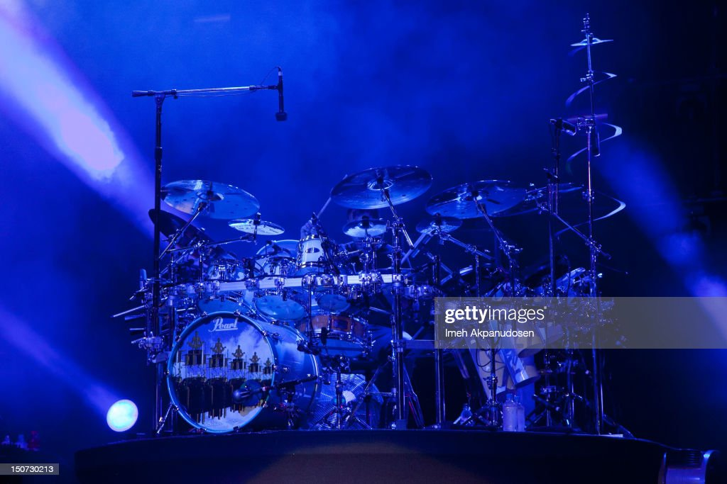 Drummer Chad Sexton of 311 performs onstage at Verizon Wireless Amphitheatre on August 24, 2012 in Laguna Hills, California.