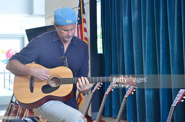 Drummer Chad Smith attends NAMM's Music Learning Festival at Savoy Elementary School on May 19 2014 in Washington DC