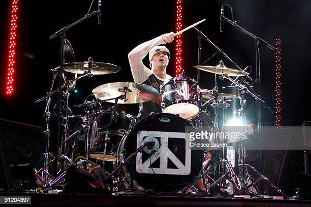 Drummer Chad Smith attends the Grammy Foundation's behind the scenes with Chickenfoot at the Gibson Amphitheatre on September 27, 2009 in Universal...