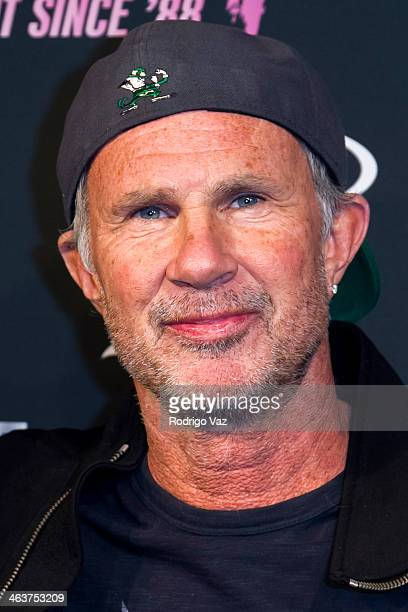 Drummer Chad Smith attends the Guitar Center's 25th Annual DrumOff Grand Finals at Club Nokia on January 18 2014 in Los Angeles California
