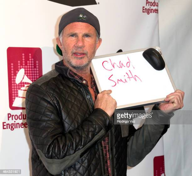 Drummer Chad Smith attends The Recording Academy Producers Engineers Wing presents 7th Annual GRAMMY Week Event honoring Neil Young at The Village...
