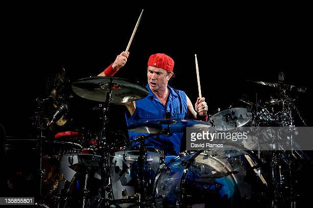 Drummer Chad Smith of American rock band Red Hot Chili Peppers perfoms live on stage at the Palau Sant Jordi on December 15 2011 in Barcelona Spain