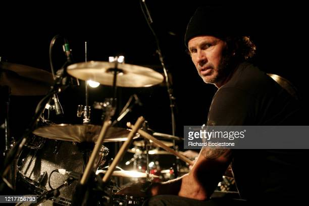 Drummer Chad Smith of American rock band The Red Hot Chilli Peppers, Norwich, United Kingdom, 2007.