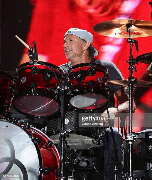 Drummer Chad Smith of Chickenfoot performs during the Sammy Hagar Belated Birthday Bash at the Downtown Las Vegas Events Center on October 18 2014 in...
