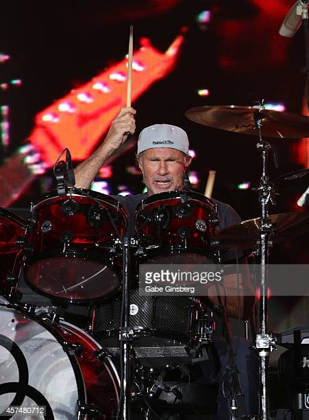 Drummer Chad Smith of Chickenfoot performs during the Sammy Hagar Belated Birthday Bash at the Downtown Las Vegas Events Center on October 18, 2014...