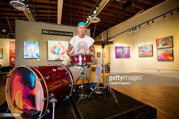 """Drummer Chad Smith of Red Hot Chili Peppers attends Road Show Company presents """"The Art of Chad Smith"""" at Exclusive Collections on February 29, 2020..."""