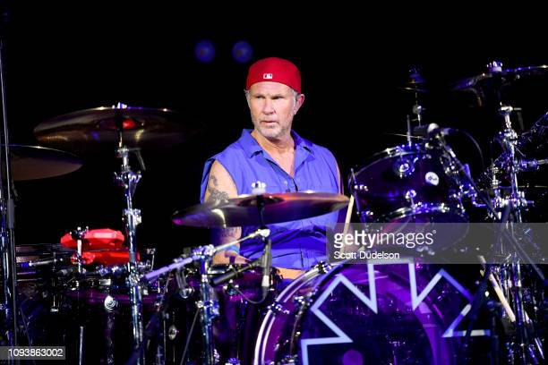 Drummer Chad Smith of Red Hot Chili Peppers performs onstage during the Malibu Love Sesh Benefit Concert at Hollywood Palladium on January 13 2019 in...