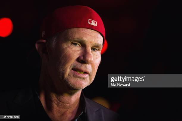 Drummer Chad Smith of the Red Hot Chili Peppers arrives at the MusiCares Concert For Recovery presented by Amazon Music at the Showbox on May 10,...