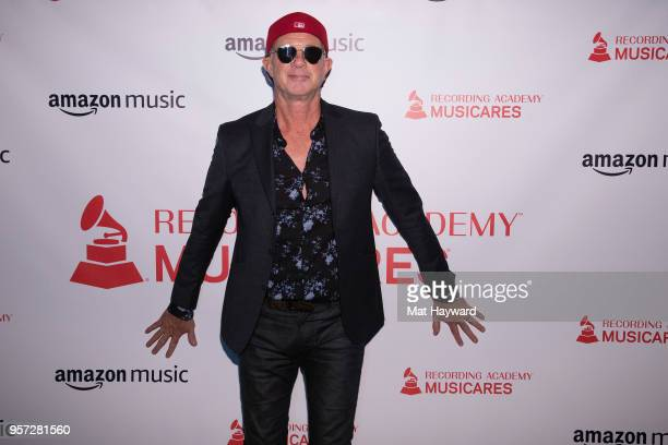 Drummer Chad Smith of the Red Hot Chili Peppers arrives the MusiCares Concert For Recovery presented by Amazon Music at the Showbox on May 10 2018 in...