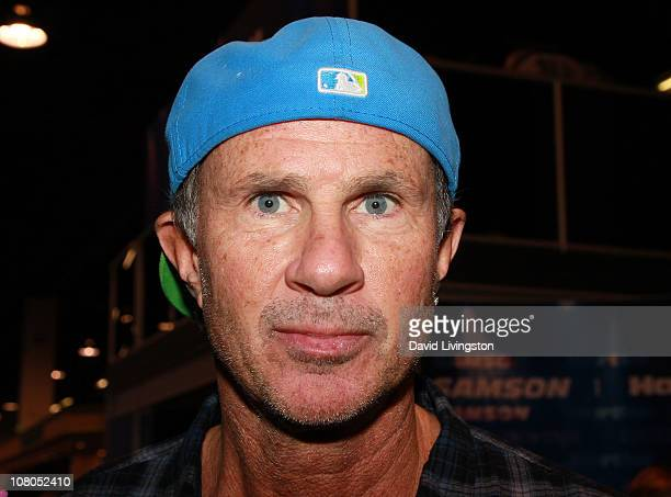 Drummer Chad Smith of the Red Hot Chili Peppers attends the 2011 NAMM Show Day 3 at the Anaheim Convention Center on January 14 2011 in Anaheim...