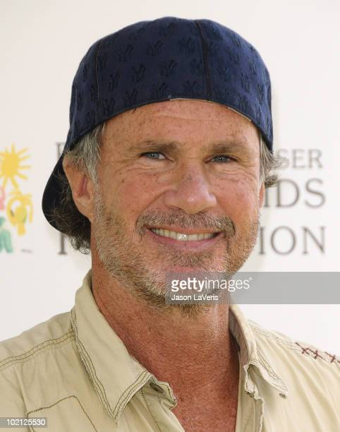 Drummer Chad Smith of the Red Hot Chili Peppers attends the 21st annual 'A Time For Heroes' celebrity picnic benefit at Wadsworth Theater on June 13...
