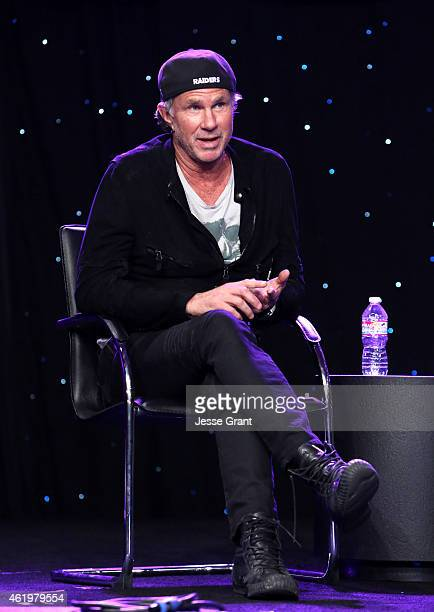 Drummer Chad Smith of the Red Hot Chili Peppers attends the the 2015 National Association of Music Merchants show at the Anaheim Convention Center on...