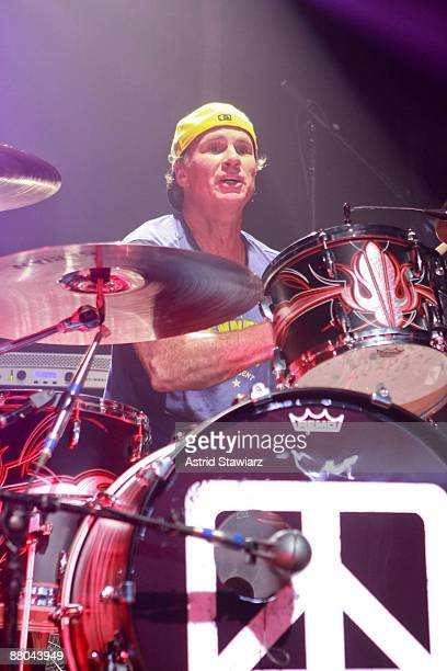 Drummer Chad Smith of The Red Hot Chili Peppers performs with Chickenfoot at The Fillmore New York at Irving Plaza on May 28, 2009 in New York City.