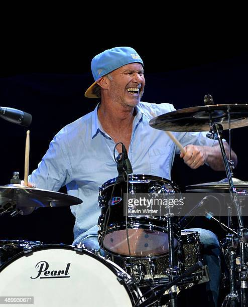 Drummer Chad Smith performs onstage at the 10th annual MusiCares MAP Fund Benefit Concert to raise funds for MusiCares' addiction recovery resources...