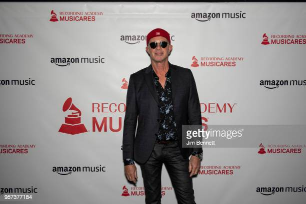 Drummer Chad Smith walks the carpet before the MusiCares Concert for Recovery benefit at The Showbox on May 10 2018 in Seattle Washington