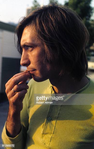 Drummer Charlie Watts of the Rolling Stones outside Elektra Records Studios on October 20 1969 in Beverly Hills California
