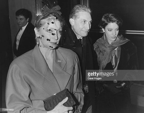 Drummer Charlie Watts of the Rolling Stones with his wife Shirley and daughter Seraphina at the Grammy Awards at Kensington Roof gardens London 27th...
