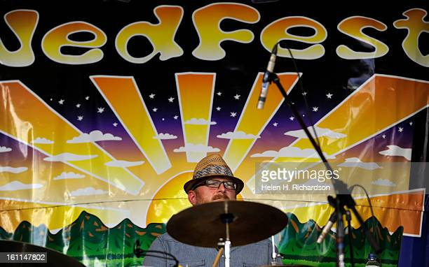 Drummer Chris Misner of Billy Nershi's Blue Planet plays during the 12th annual NedFest that took place over the weekend of August 28th and 29th 2010...