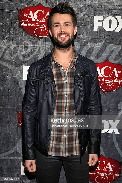 Drummer Chris Thompson of the Eli Young Band arrives at the 2012 American Country Awards at the Mandalay Bay Events Center on December 10 2012 in Las...