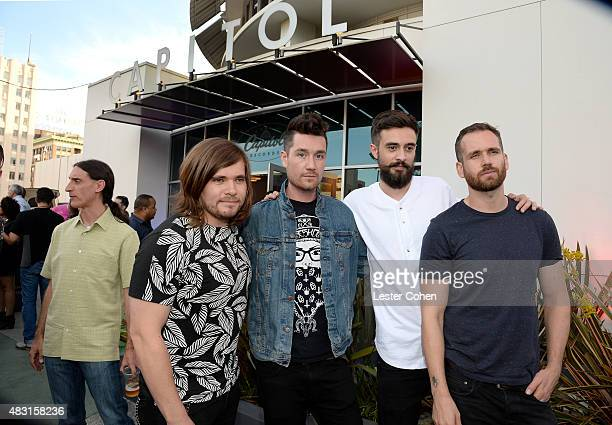 Drummer Chris Wood singer/songwriter Dan Smith keyboard player Kyle Simmons and musican Will Farquarson attend the 3rd Annual Capitol Congress...