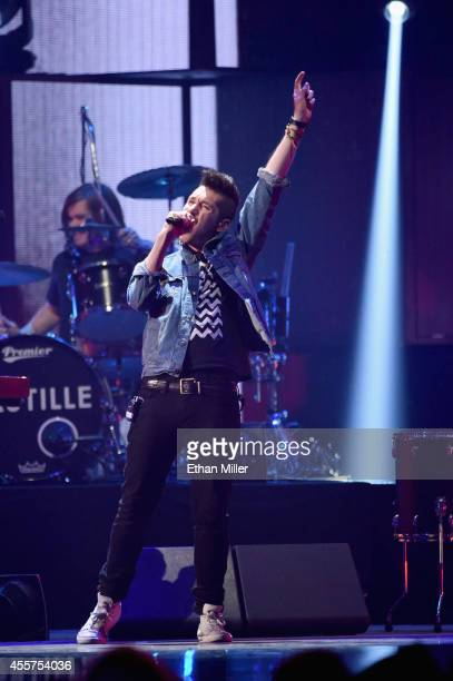 Drummer Chris Woody Wood and frontman Dan Smith of Bastille perform onstage during the 2014 iHeartRadio Music Festival at the MGM Grand Garden Arena...