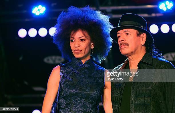 Drummer Cindy Blackman Santana and her husband recording artist Carlos Santana donate items including Carlos Santana's autographed PRS Limited...