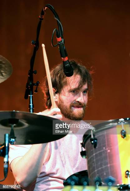 Drummer Daniel Platzman of Imagine Dragons performs during a stop of the band's Evolve World Tour at TMobile Arena on September 29 2017 in Las Vegas...