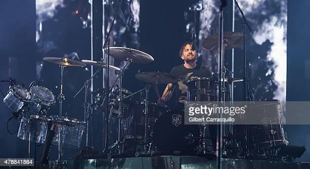 Drummer Daniel Platzman of Imagine Dragons performs during Smoke Mirrors Tour at Wells Fargo Center on June 27 2015 in Philadelphia Pennsylvania
