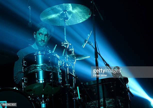 Drummer Daniel Platzman of Imagine Dragons performs during X1075's Holiday Havoc 2014 show at The Joint inside the Hard Rock Hotel Casino on December...