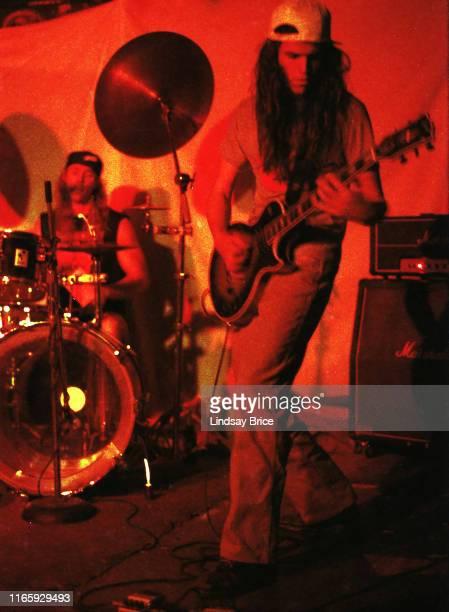 Drummer Danny Carey and guitarist Adam Jones perform in Tool at Al's Bar on November 25 1991 in downtown Los Angeles