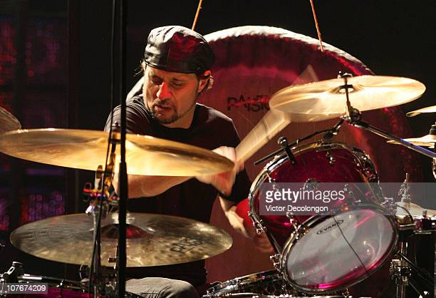 Drummer Dave Lombardo of PHILM performs at the Wiltern Theater on December 17 2010 in Los Angeles California