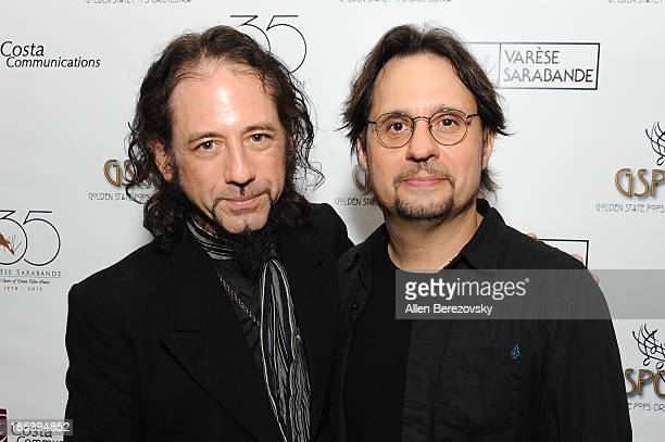 Drummer Dave Lombardo of Slayer and guitarist Gerry Nestler attend Varese Sarabande Worldwide 35th Anniversary Special Halloween Concert Gala at...