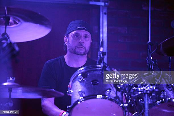 Drummer Dave Lombardo of Slayer performs onstage at Lucky Strike Live on January 22 2016 in Hollywood California