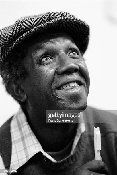 Drummer Dennis Charles posed at Bimhuis in Amsterdam, Netherlands on October 22 1983