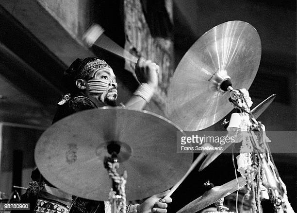 Drummer Don Moye performs live on stage with The Art Ensemble Of Chicago at Vredenburg in Utrecht, Netherlands on May 01 1984