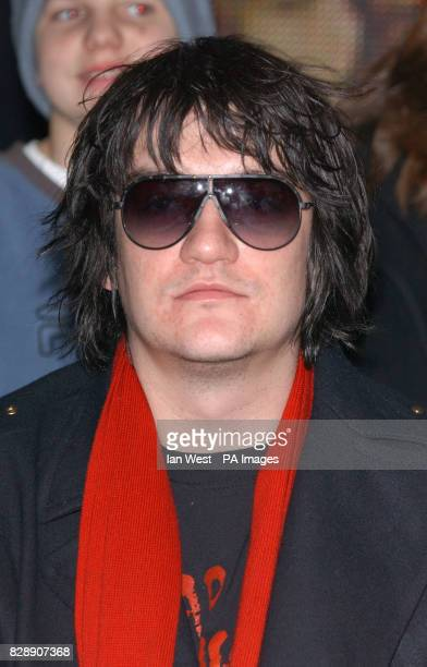 Drummer Ed Graham of The Darkness at HMV Oxford Street before they signed copies of their new Christmas single 'Christmas Time ' in store over...