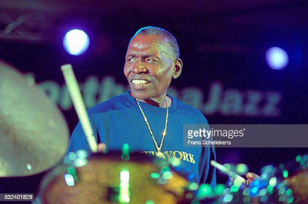 Drummer Elvin Jones performs on June 14th 2002 at the North Sea Jazz Festival in the Hague, Netherlands.