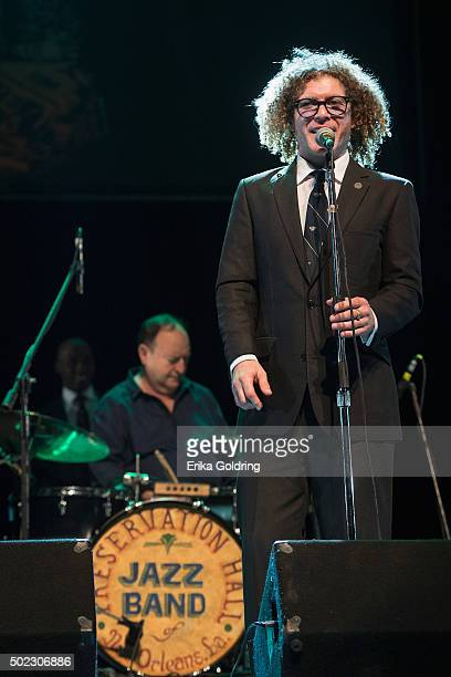 Drummer Enrique Plá and Ben Jaffe of Preservation Hall Jazz Band perform during the opening night of the 31st annual Jazz Plaza Havana Festival 2015...