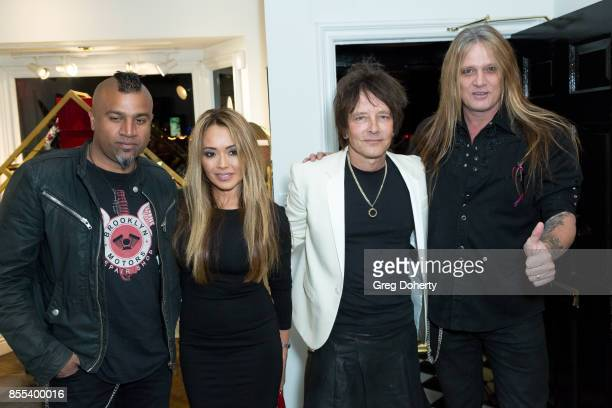 Drummer Erik Eldenius Suzanne Bach Artist and Guitar Player Billy Morrison and Singer Sebastian Bach attend the Billy Morrison Aude Somnia Solo...