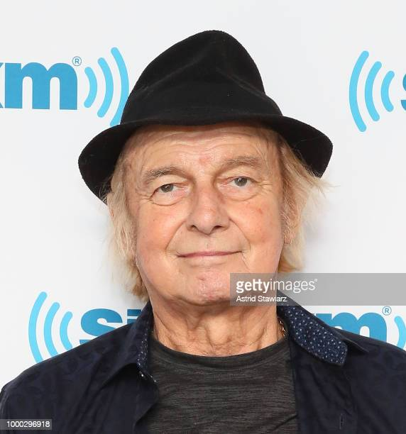 Drummer from the band YES Alan White visits the SiriusXM studios on July 16 2018 in New York City