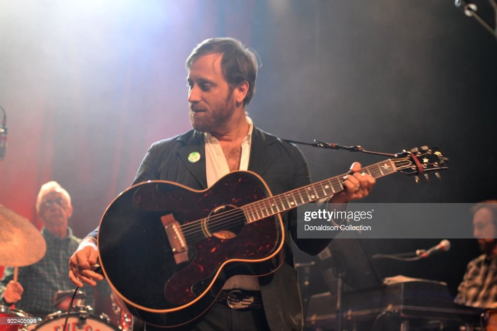Drummer Gene 'Bubba Chrisman, Dan Auerbach, and keyboardist Bobby Wood of the rock band 'Dan Auerbach and the Easy Eye Sound Revue' performs onstage at the Obervatory on February 18, 2018 in Santa Ana, California.
